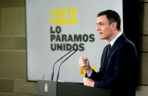 Pedro Sánchez interviene en el Palacio de La