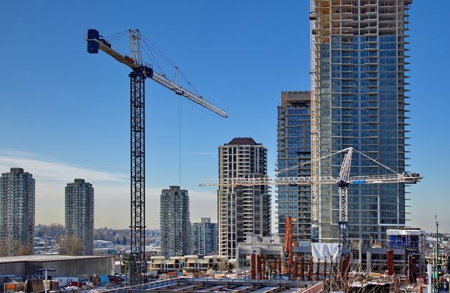 New construction of high-rise building in Burnaby