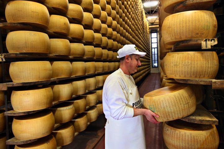 "Italian Parmesan cheese is made only in ""Protected Designation of Origin"" areas of Italy."