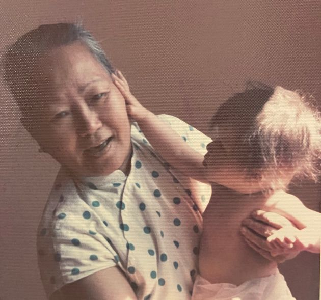 The author and her grandmother shortly after the family immigrated to Canada in