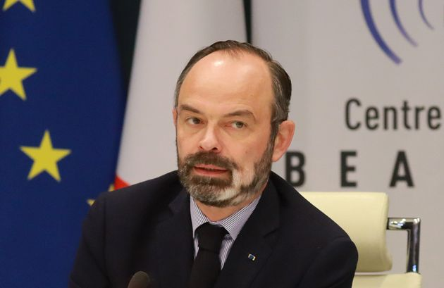 Édouard Philippe à l'issue d'une réunion sur le coronavirus au ministère...