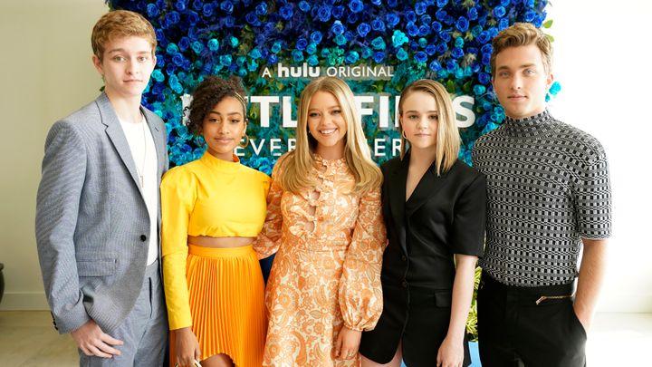"The young actors of ""Little Fires Everywhere,"" (L-R) Gavin Lewis, Lexi Underwood, Jade Pettyjohn, Megan Stott and Jordan Elsa"