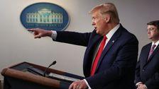 Gezwungen, Um Schließlich Die Corona-Virus Im Ernst, Trump Dreht Sich Um Rassismus