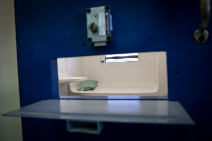 A jail cell in the Enhanced Supervision Housing Unit at the Rikers Island Correctional facility in New York March 12, 2015.&n