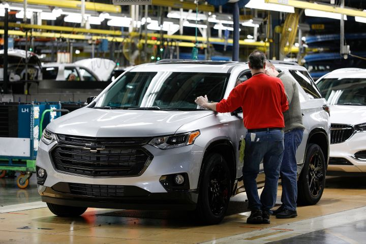 GM's assembly plant in Lansing, Michigan, is among those being temporarily shut down.