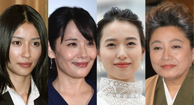 水野美紀さん、富田靖子さん、戸田恵梨香さん、三林京子さん(左から)