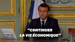 Macron appelle les Français à