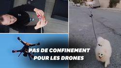 Pendant le confinement, les drones peuvent même promener votre