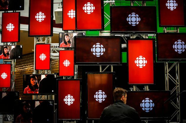 The foyer of the CBC's Canadian Broadcasting Centre in downtown Toronto is seen here in May 2014. The...