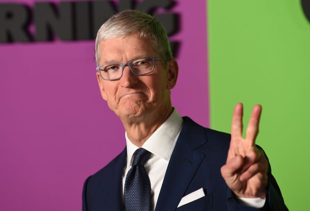 Apple CEO Tim Cook attends the world premiere of Apple's