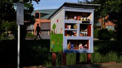 Free Little Libraries Transform Into Mini Food Banks To Combat