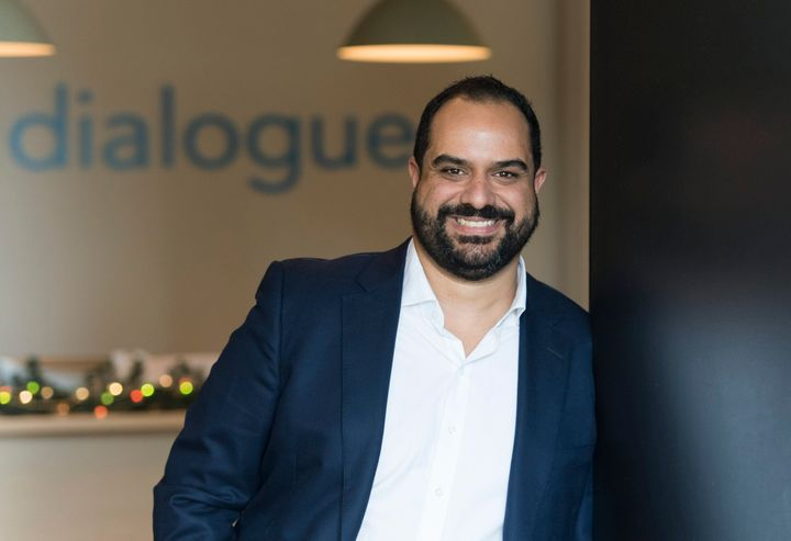 Cherif Habib, Dialogue CEO and Co-Founder, poses at the company's offices in Montreal, Mon. Nov. 12, 2018.