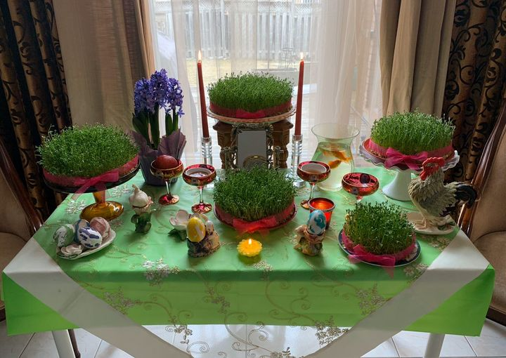 Every Sofreh Haft-Sin looks different, but they must all carry seven symbols per Nowruz tradition.