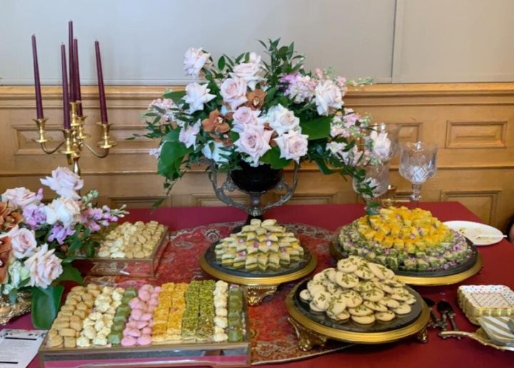 Iranian pastries laid out for a Nowruz celebration.