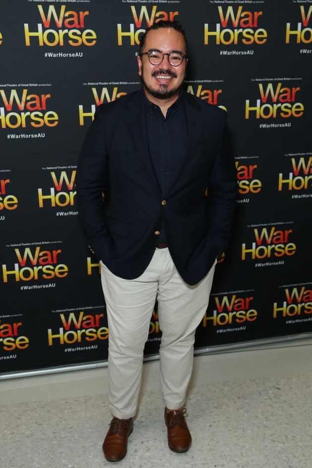 Former MasterChef winner Adam Liaw pictured at the opening night of War House at Lyric Theatre, Star...