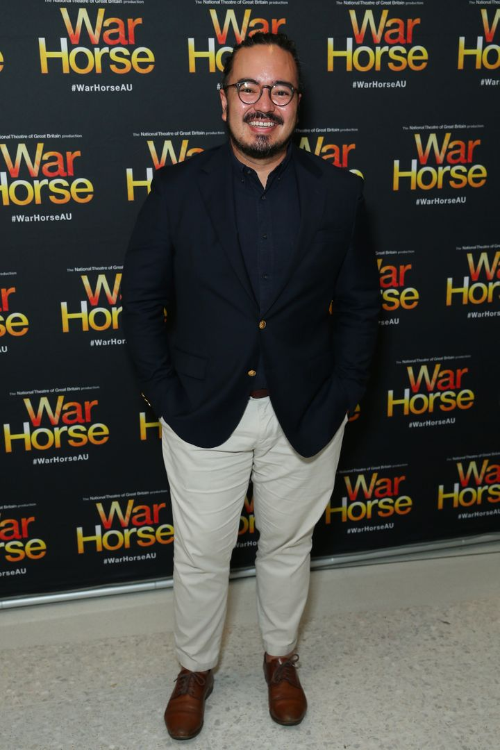 Former MasterChef winner Adam Liaw pictured at the opening night of War House at Lyric Theatre, Star City on February 18, 2020 in Sydney, Australia.