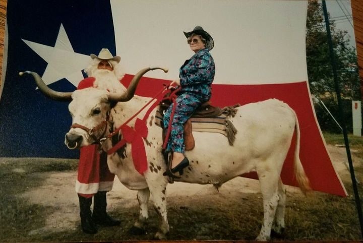 "Geneva Wood's family say this picture, taken in Texas the 1990s, is ""essentially her personality in a nutshell."""