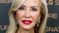 Carmen Lomana presume de piel y enseña su cara sin