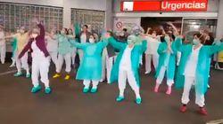 El agradecimiento del personal sanitario del Hospital de La Paz de Madrid a los
