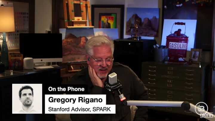 Rigano was interviewed on Glenn Beck's radio program. He claimed to have a