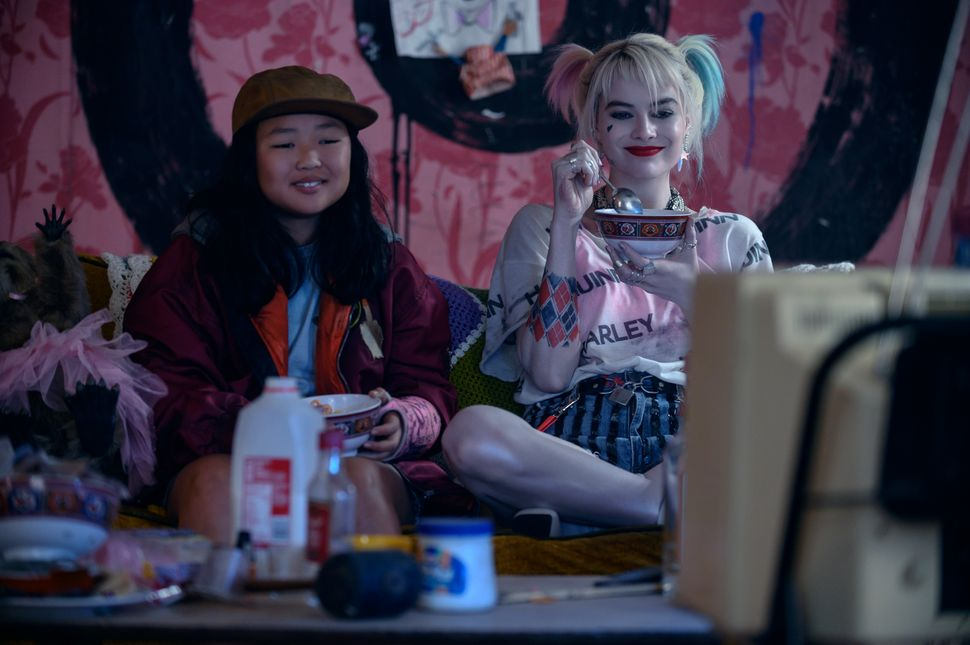 "Ella Jay Basco, left, and Margot Robbie in ""Birds of Prey."""