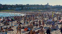 사회적 거리두기 권고에도 시드니 해변에 엄청난 인파가 몰렸다