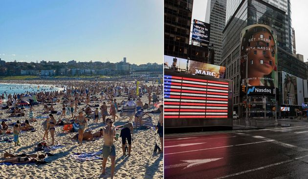 Outrage has sparked online after images of packed Sydney beaches went viral on Twitter, with some comparing...