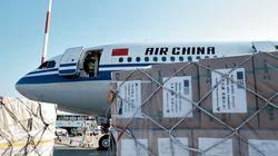 Υγειονομικό υλικό 18 τόνων έστειλε η Κίνα ως δωρεά στη Ελλάδα για τη μάχη κατά του
