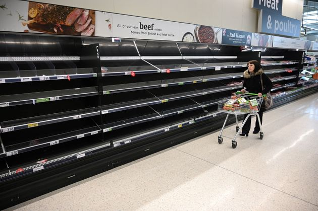 Huge queues and empty shelves have become a symbol of the outbreak.