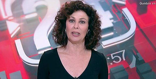Beatriz Pérez Aranda, en el informativo del 21 de marzo de