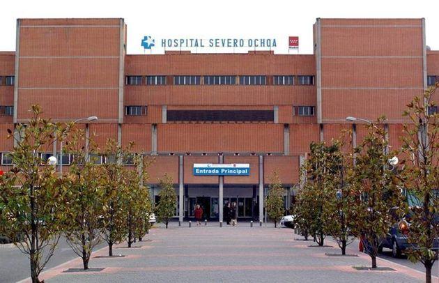 Puerta del Hospital Severo Ochoa de Leganés en