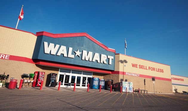 In this file photo, the front and parking lot of a Walmart is seen is Mississauga, Ont., Oct. 9,