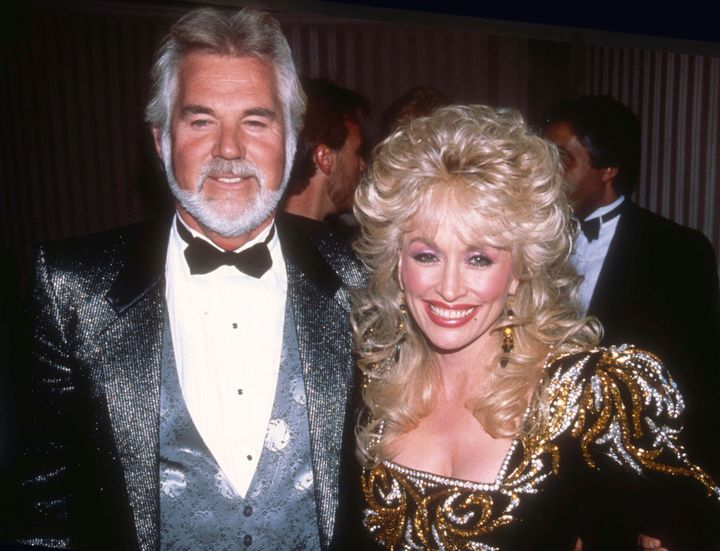 Kenny Rogers and Dolly Parton in 1988.