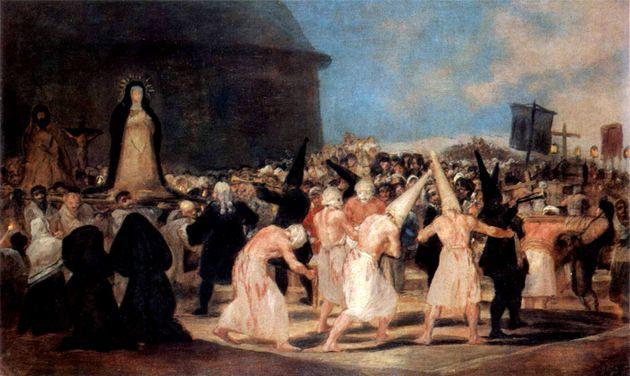 .Francisco de Goya,Πομπή των «Μαστιγωμένων»,1812-14...