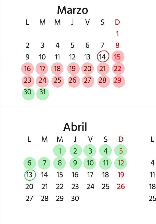 calendario coronavirus