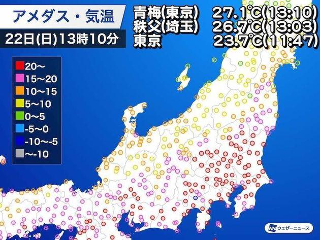 日 夏 の 東京 月 2