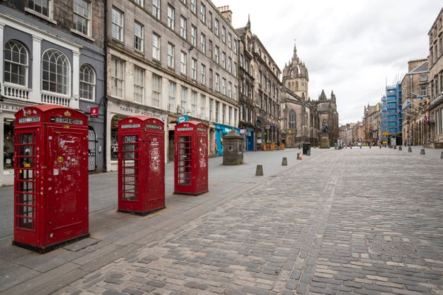 Edinburgh's Royal Mile on the first day after Prime Minister Boris Johnson ordered pubs and restaurants...