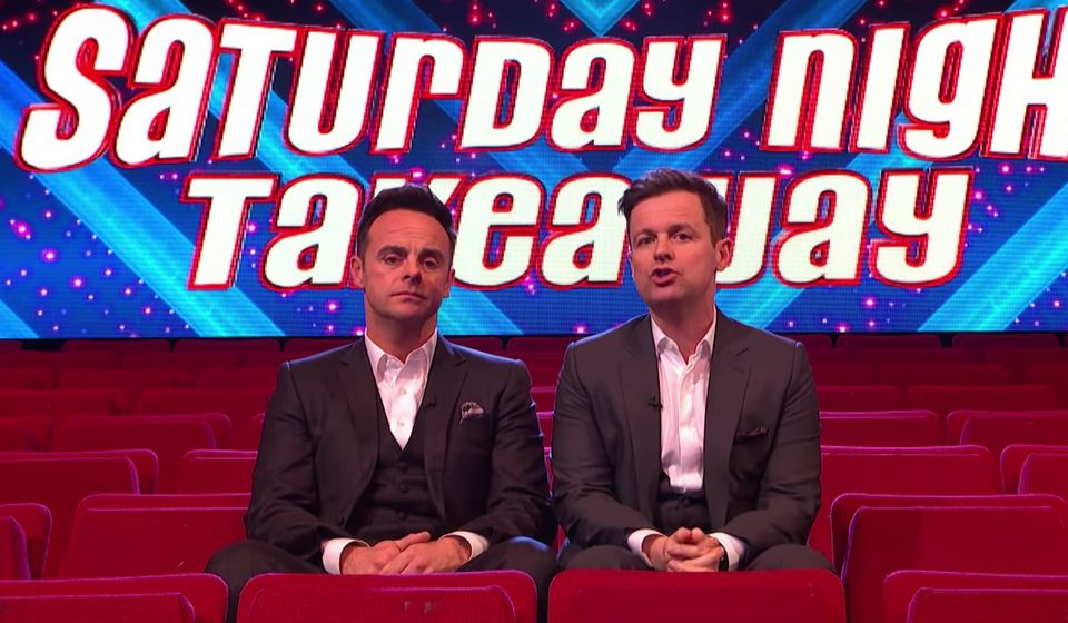 Ant and Dec hosted an episode of Saturday Night Takeaway without an
