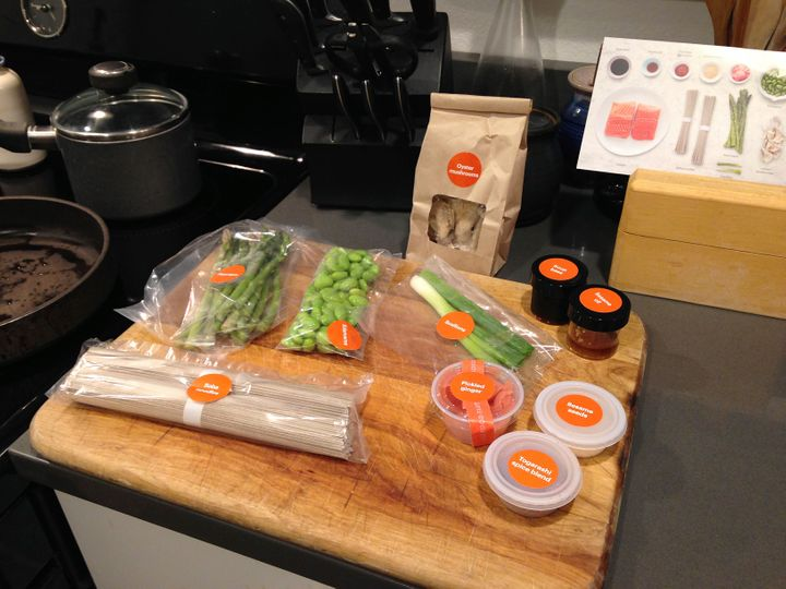 Meal kits offer pre-packaged and portioned ingredients.