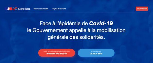 Pour aider pendant la pandémie de coronavirus, le gouvernement crée un site de
