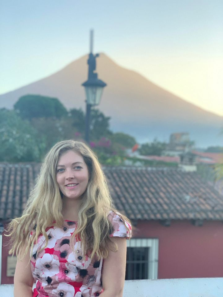Georgia Lindsay, pictured here in Antigua, has been living in Guatemala City teaching English.