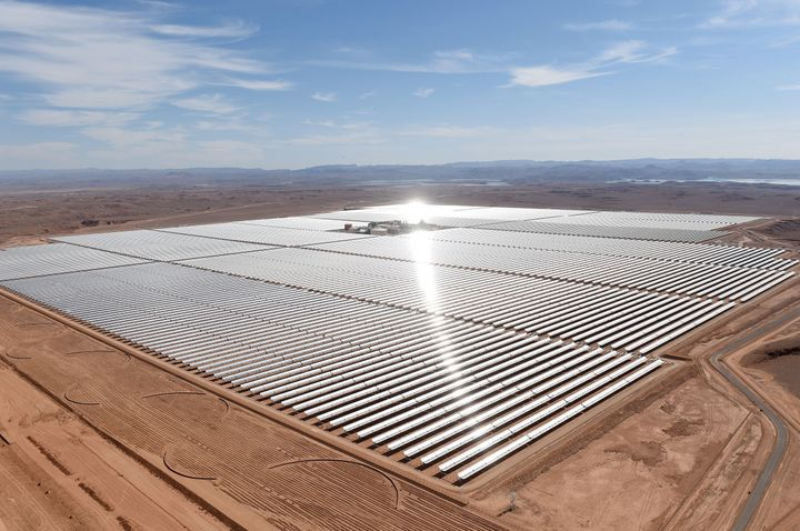 A solar farm in the Moroccan town of Ouarzazate. Governments could incorporate a clean energy transition, complete with