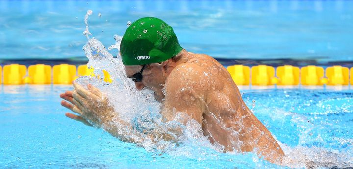 South Africa's Cameron van der Burgh churns to his gold medal in the London games.