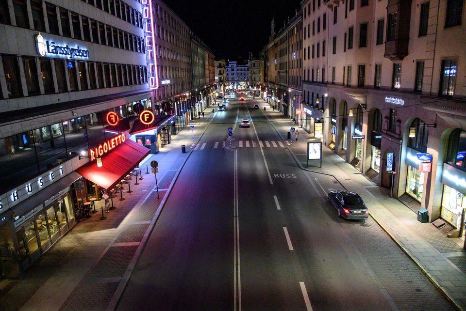 Ερημιά και στη Στοκχόλμη.