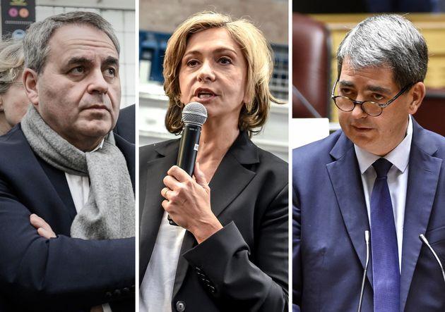 De gauche à droite, Xavier Bertrand, président des Hauts-de-France, Valérie Pécresse, présidente d'Île-de-France...