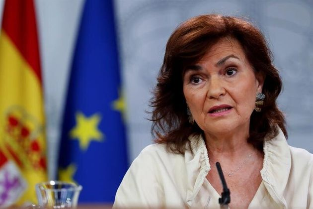 La vicepresidenta primera del gobierno, Carmen