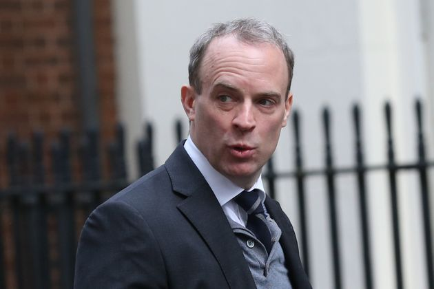 Foreign secretary Dominic Raab arrives in Downing Street, London, for a cabinet meeting ahead. Picture...
