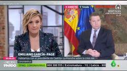 Cristina Pardo se disculpa tras su criticada pregunta a García-Page sobre
