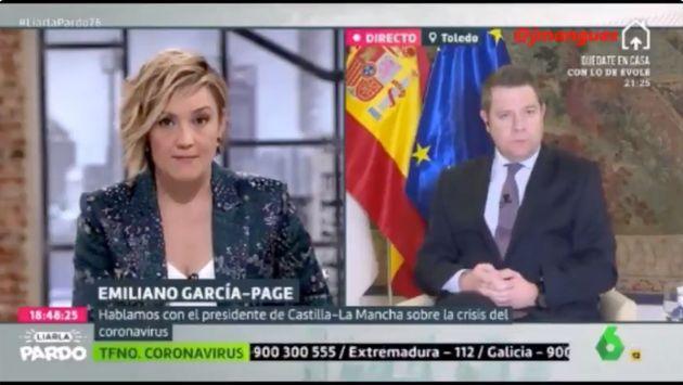 Un momento de la entrevista de Cristina Pardo a