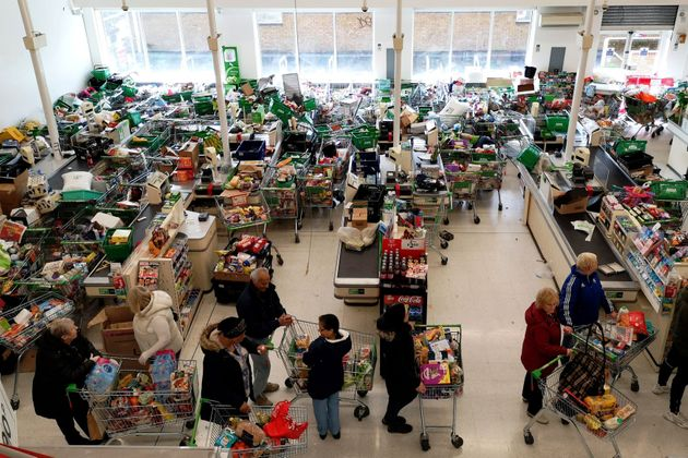 Supermarkets have been overwhelmed with unprecedented demand amid the coronavirus